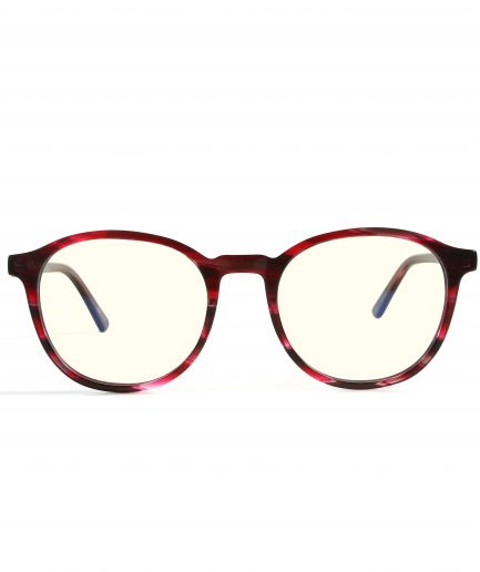 Blue light glasses tortoise red
