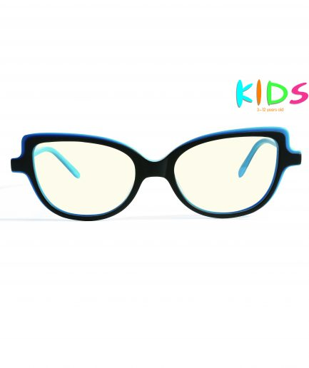 blue color kids blue light blocking glasses