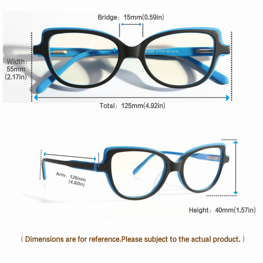 kids blue light blocking glasses girls cateye blue